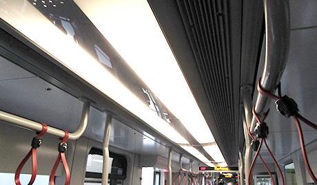 Oświetlenie wewnętrzne, 2-płomieniowe pasmo lamp LED
