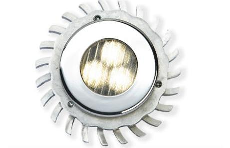 Светодиодный потолочный точечный светильник с различными оптическими вставками слев.